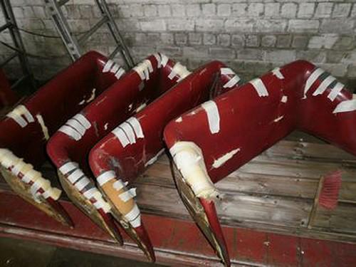 Die über die Jahre verschlissenen Sitzpolster